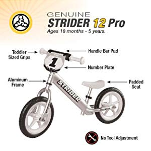 bicicleta Strider Pro Silver Aro 12