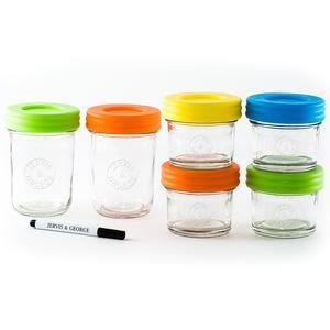 6 Envases de Vidrio