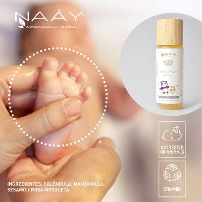 Aceite de masaje bebé orgánico