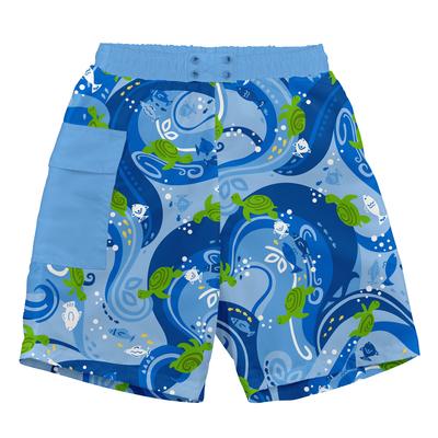 Trajes de Baño Short Azul Tortuga