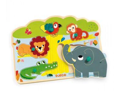 Puzzle con sonido de animales baoab