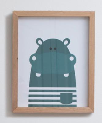 Cuadro Hippo Verde
