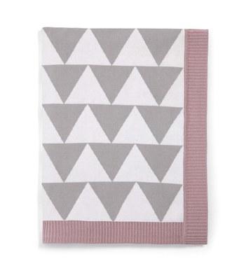 Manta tejida punto triangulo