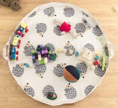 Alfombra de juego y organizadora de juguetes