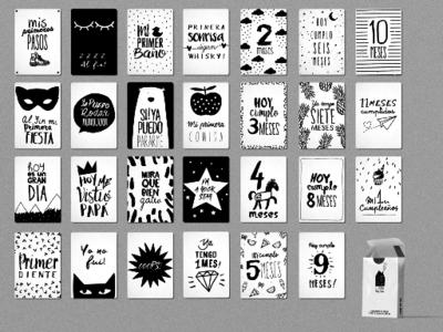 Tarjetas Ilustradas con Recuerdos del Embarazo