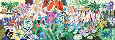 Puzzle Tigres Arcoiris 1000 pcs