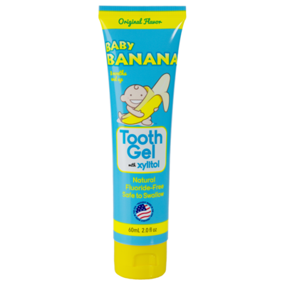 Pasta dental Baby Banana Sin Sabor sin fluor