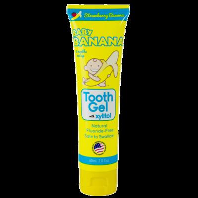 Pasta dental Baby Banana Frutilla-Plátano Sin flour