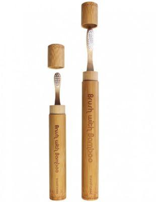 Caja de viaje de Bambu para Cepillo