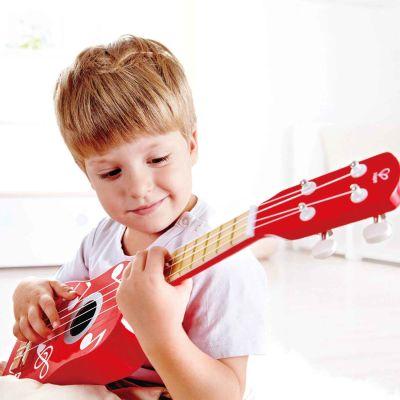 Guitarra Infantil de madera Rojo