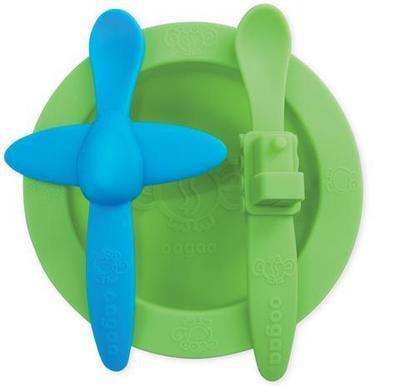 Set plato cuchara silicona