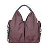 Bolso Maternal Green Label Neckline Bag Lässig Ecoya Burgundy Red