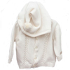 Natural Organic Cotton Hooded Cardigan 3-6m NP