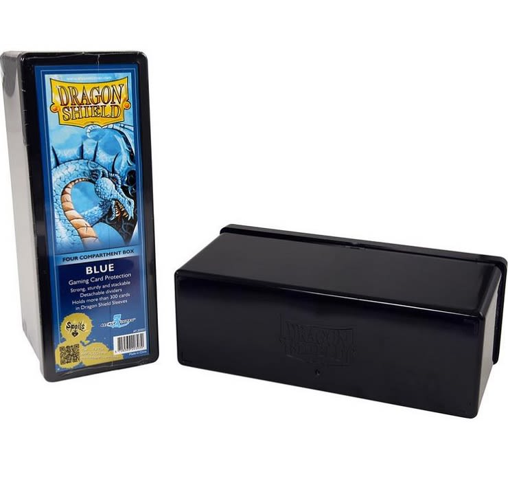 Dragon Shield Caja Acrilico 4 Divisiones - Azul