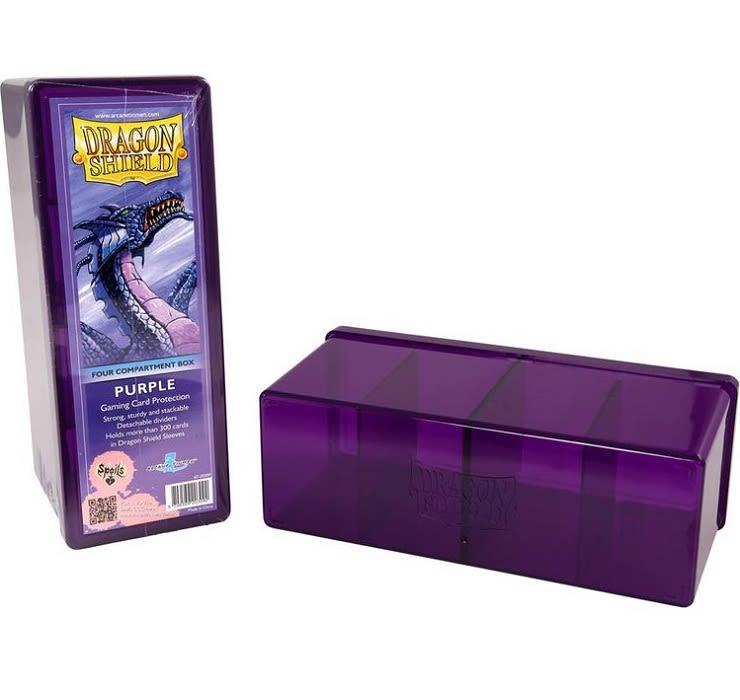 Dragon Shield Caja Acrilico 4 Divisiones - Purpura