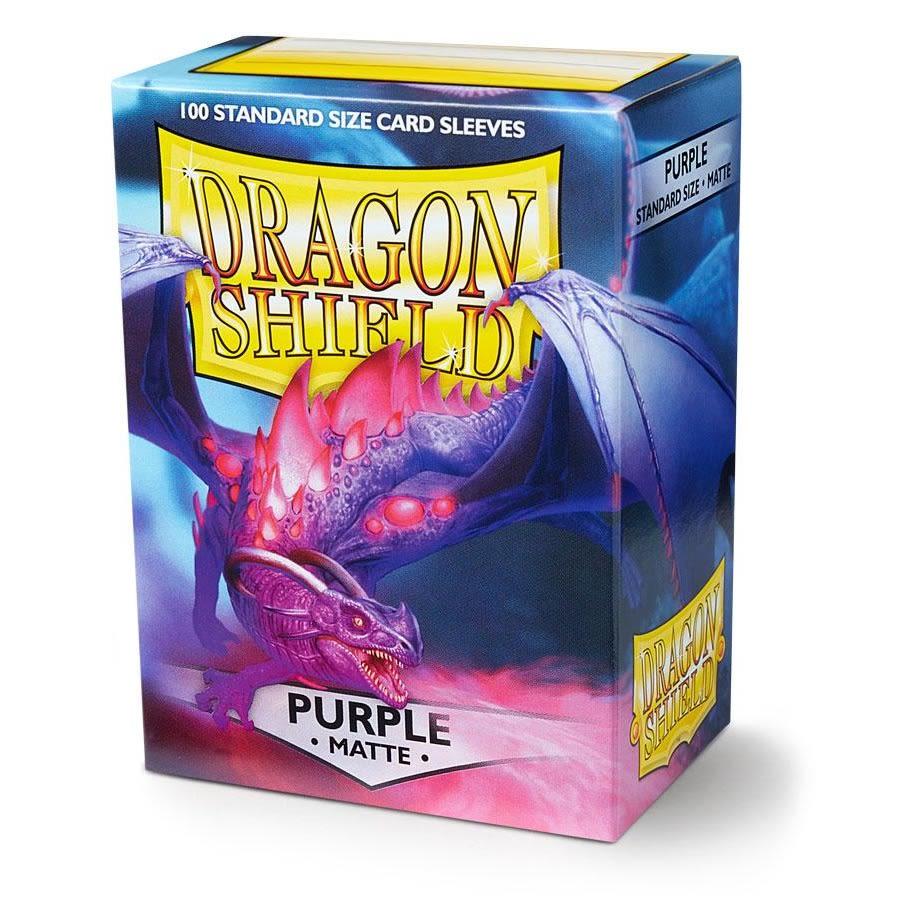 Protectores Dragon Shield Matte Standard Púrpura - 100 Unidades