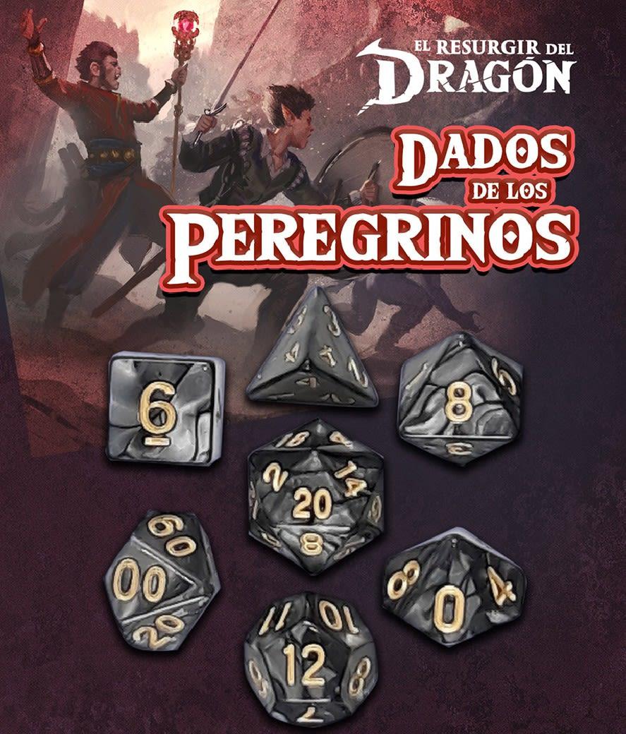 Set D7 Dados de los Peregrinos - Negro Ahzek