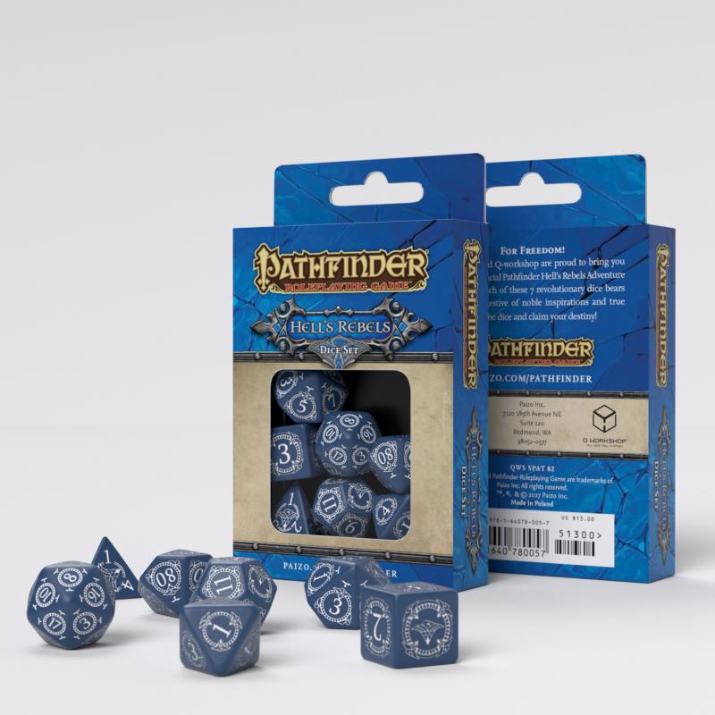 Set D7 Dados Pathfinder Hell's Rebels