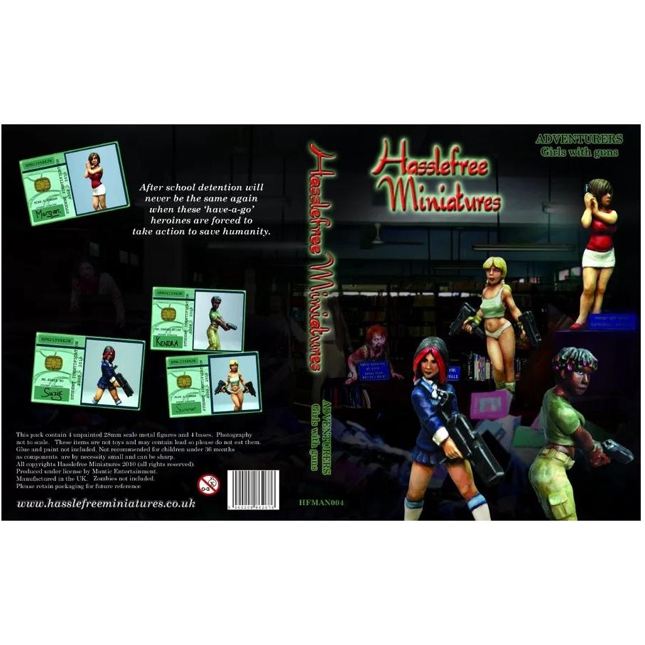 Adventures Girls with Guns - Hasslefree Miniatures