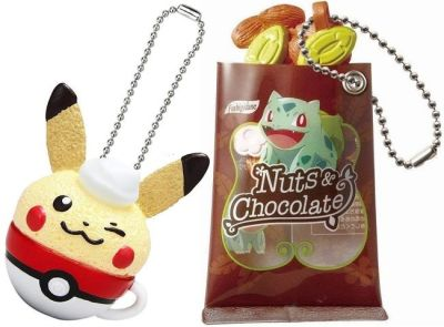 Pokémon Charms Foods & Snacks - Llaveros