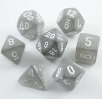 Set D7 Dados Frosted - Smoke White