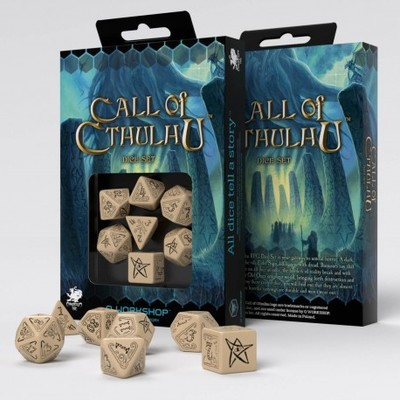 Set D7 Dados Call of Cthulhu - Beige & Black