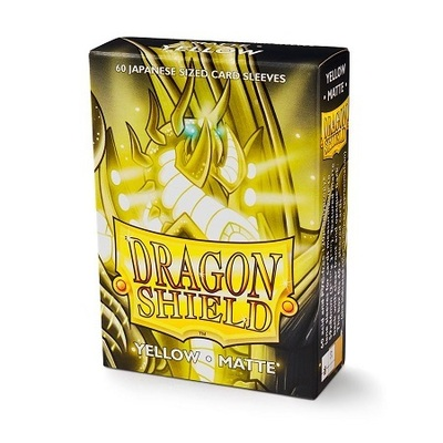 Protectores Dragon Shield Japanese Matte Amarillo - 60 Unidades