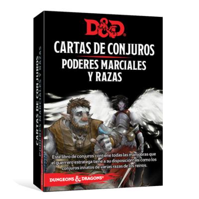 D&D 5th Ed. Cartas de Conjuros Poderes Marciales y Razas