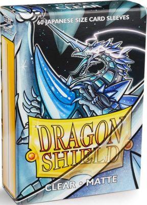Protectores Dragon Shield Japanese Matte Transparente - 60 Unidades