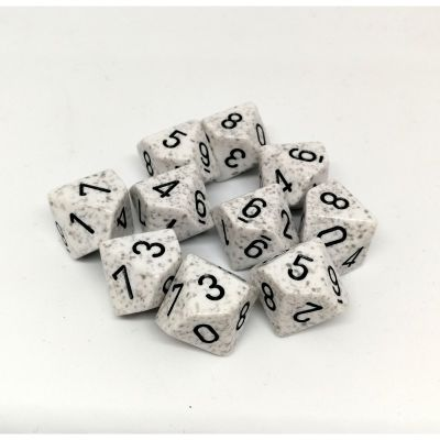 Set D10 Dados de 10 Caras Speckled Artic Camo