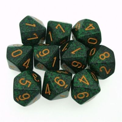 Set D10 Dados de 10 Caras Speckled Recon