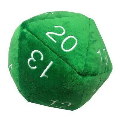 Dado D20 Jumbo de Peluche - Verde