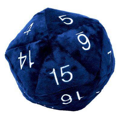 Dado D20 Jumbo de Peluche - Azul