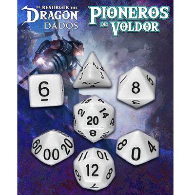 Set D7 Dados Pioneros de Voldor - Blanco Kaosi