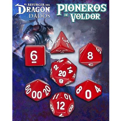 Set D7 Dados Pioneros de Voldor -  Rojo Lantamar