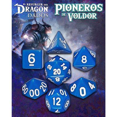 Set D7 Dados Pioneros de Voldor -  Azul Erekar