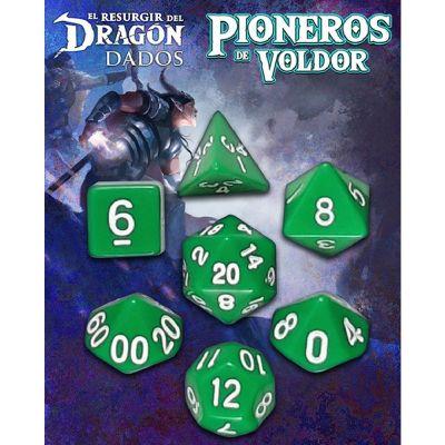 Set D7 Dados Pioneros de Voldor - Verde Saurania