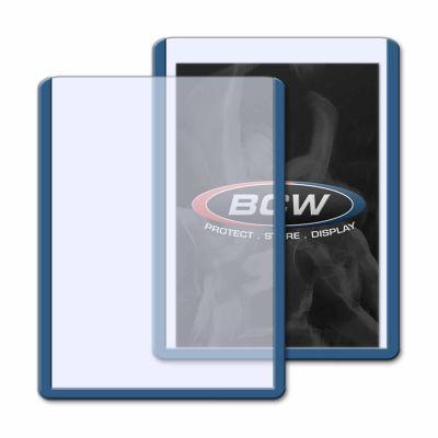 Protector BCW Standard de Plástico Rígido - Borde Azul