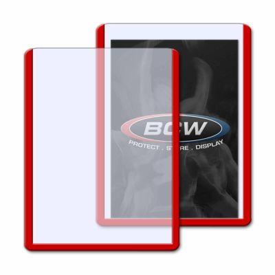 Protector BCW Standard de Plástico Rígido - Borde Rojo