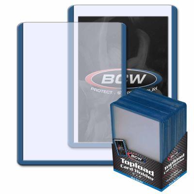 Toploader BCW Protector Rígido - Borde Azul - Caja Sellada