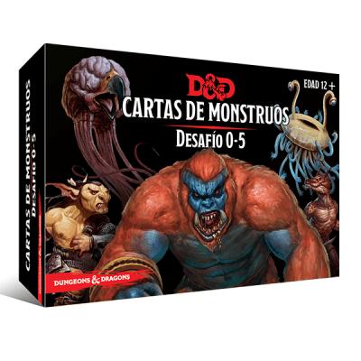 D&D 5th Ed. Cartas de Monstruos - Desafío 0-5
