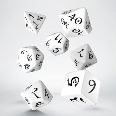 Set D7 Dados Classic RPG - White & Black