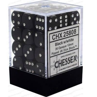 Block de 36 Dados D6 Caras de 12mm. Opaco