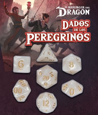 Set D7 Dados de los Peregrinos - Blanco Ahuraz