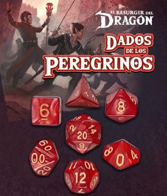 Set D7 Dados de los Peregrinos - Rojo Gram