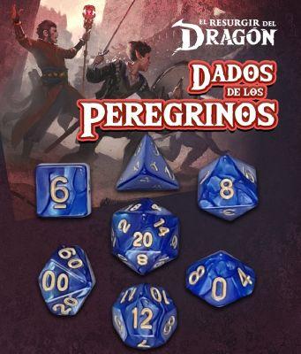 Set D7 Dados de los Peregrinos - Azul Arastu