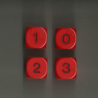 Dado D6 Caras (0, 1, 2 y 3)