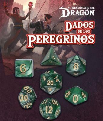 Set D7 Dados de los Peregrinos - Verde Ssuchuq