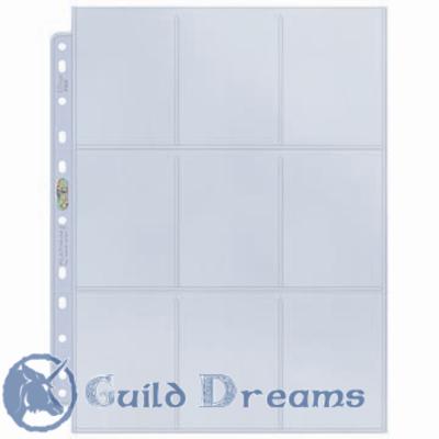 Hojas Ultra Pro Platinum - 9 Bolsillos
