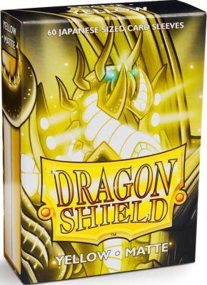 Protectores Dragon Shield Japanese Matte Amarillo - 60 Unidades